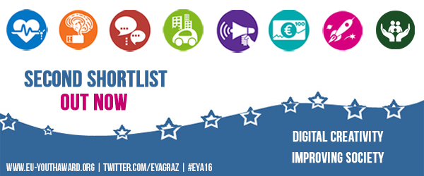 Next Milestone in the European Youth Award: The second shortlist is out now!