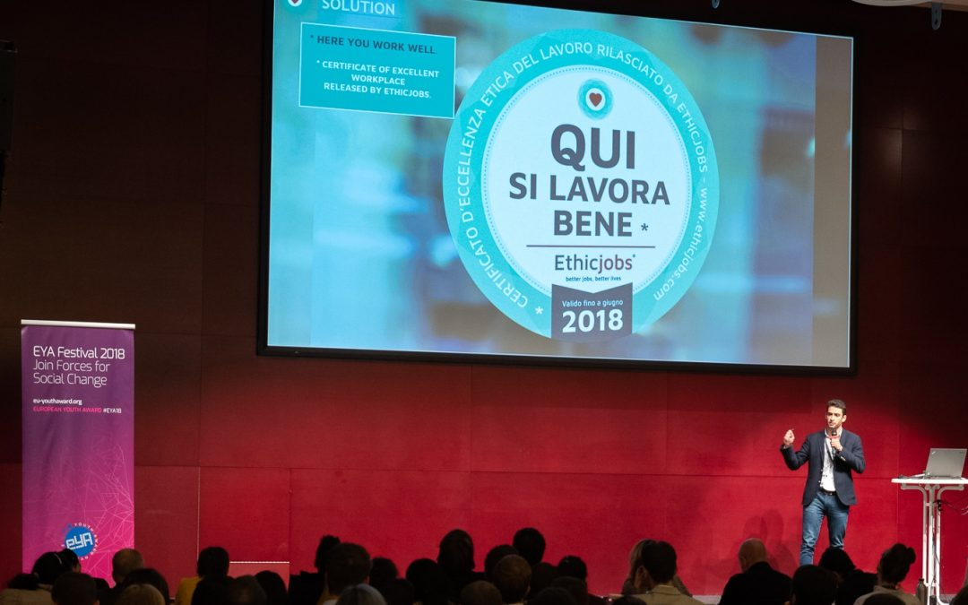 """Interview with #EYA18 Winner Riccardo Sonnino from """"Ethicjobs"""""""
