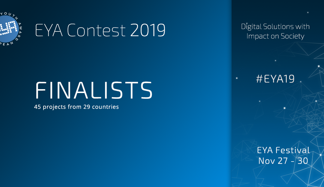 EYA Finalists 2019: these projects reached the last round